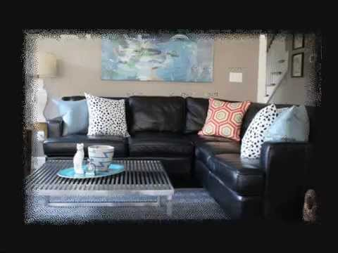 Decorate Living Room With Black Sofa Curtain Ideas Brown Furniture Couch Youtube