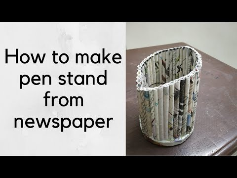 DIY Paper Roll Pen Stand