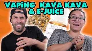 First-timers Vaping Kava Kava & E-Juice with Davinci Ascent Vaporizers