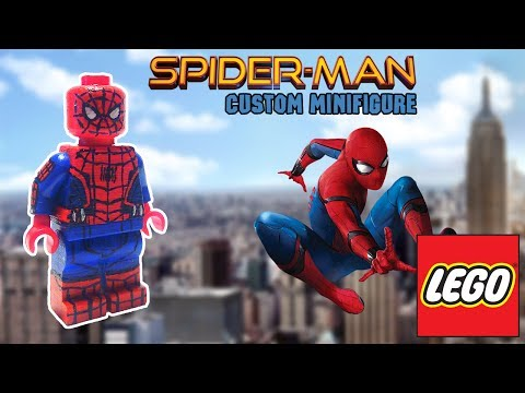 !HOW TO MAKE! Spider-Man Lego Custom Minifigure [Homecoming]