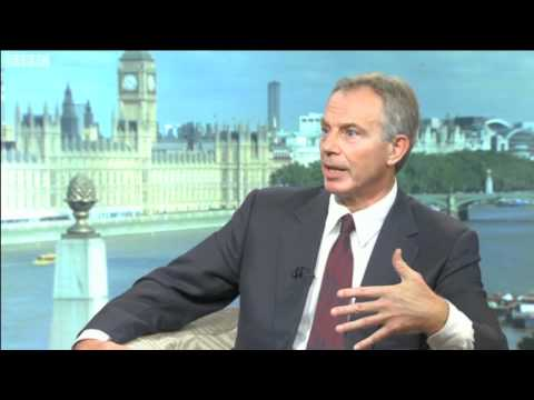 Tony Blair reflects on his role in the Northern Ireland peace process August 2010 BBC