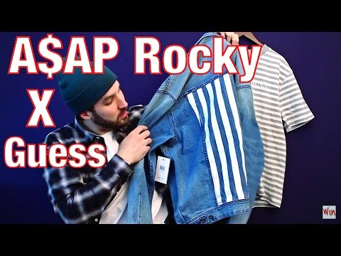 A$AP ROCKY X GUESS COLLECTION - Denim Jacket, Striped T-Shirt & Bomber Jacket - New Clothing Pickups