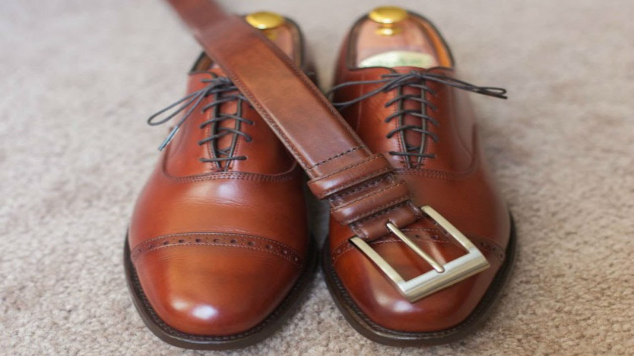 Color Watch With Brown Belt And Shoes