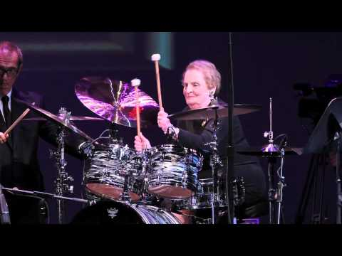 Madeleine Albright Shows Off Her Drum Skills, and Other Talented Secretaries of State