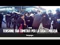 Torino, tensione tra movimenti per la casa e polizia