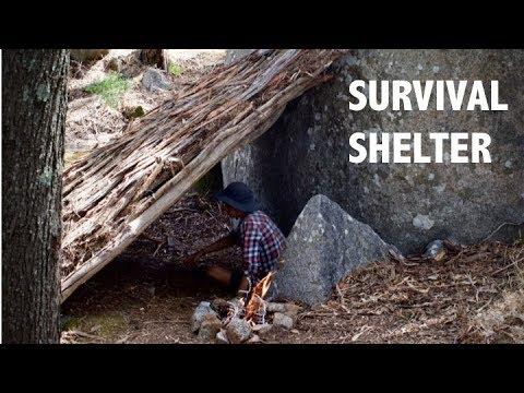 Aussie Bush Survival Shelter: Primitive Shelter In Under 3 Hours!