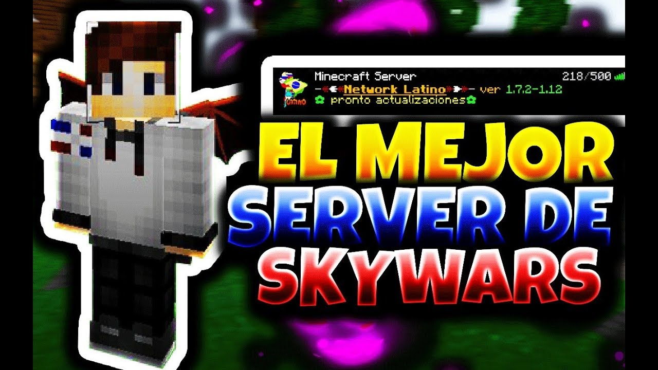 El Mejor Servidor De Skywars 1 8 No Premium Sin Lag Skywars Sin Lag Youtube