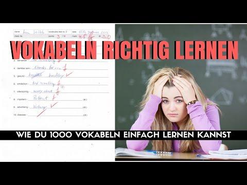 Vokabeln Richtig Lernen - Wie Du 1000 Vokabeln Einfach Lernen Kannst!