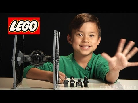 TIE FIGHTER - LEGO Star Wars Set 9492 - Time-lapse/Stop Motion Build, Unboxing & Review