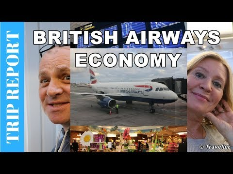 BRITISH AIRWAYS ECONOMY CLASS flight to London Heathrow Airport - Airbus A319 Flight Review
