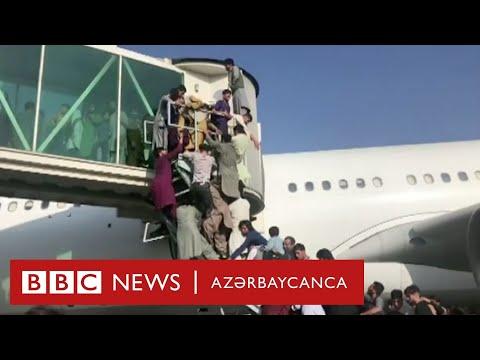 Kabul aeroportundan dəhşətli görüntülər