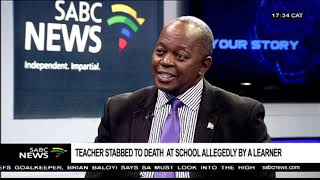 Reaction to murder of a teacher at a North West school: Elijah Mhlanga