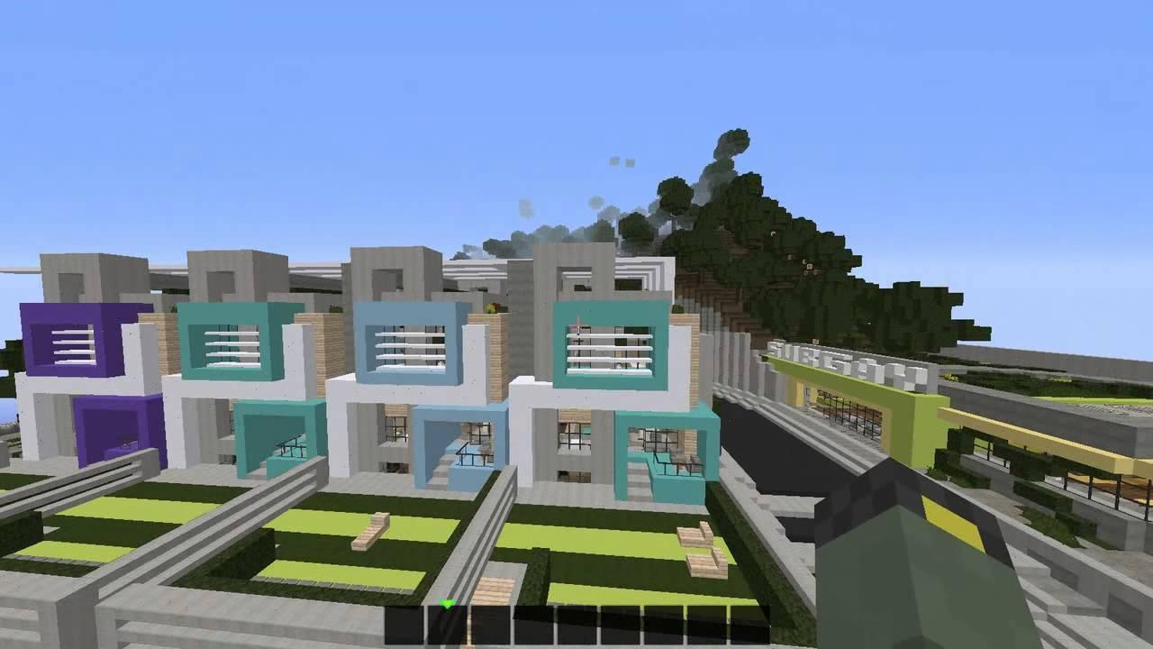 Minecraft creative episodio 17 restaurante y casa for Casa moderna restaurante salta