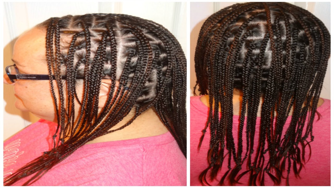 Caucasian Box Braids With No Extensions Youtube