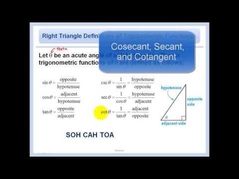 13.1 - Trigonometry with Right Triangles
