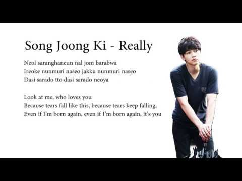 Song Joong Ki - Really (The Innocent Man OST)(english sub and hangul romanized)