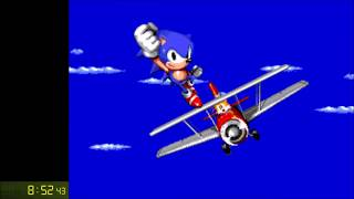 WORLD RECORD!! SONIC 2 SPEEDRUN DEBUG% WR% IN UNDER 9 MINUTES!! FIRST EVER WR THIS FAST!!