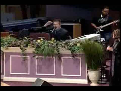 """Pastor Scott Kilborn at Solid Rock Church. """"Let it..."""