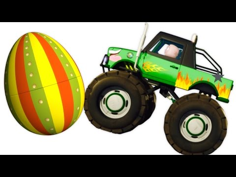 Thumbnail: Five Little Babies Driving Monster Trucks | Zool Babies Surprise Eggs | Nursery Rhymes Collection