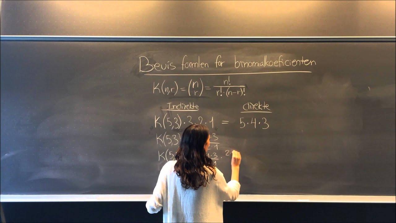 Bevis formlen for binomialkoefficienten og udregning af sandsynligheden for 'full-house' i