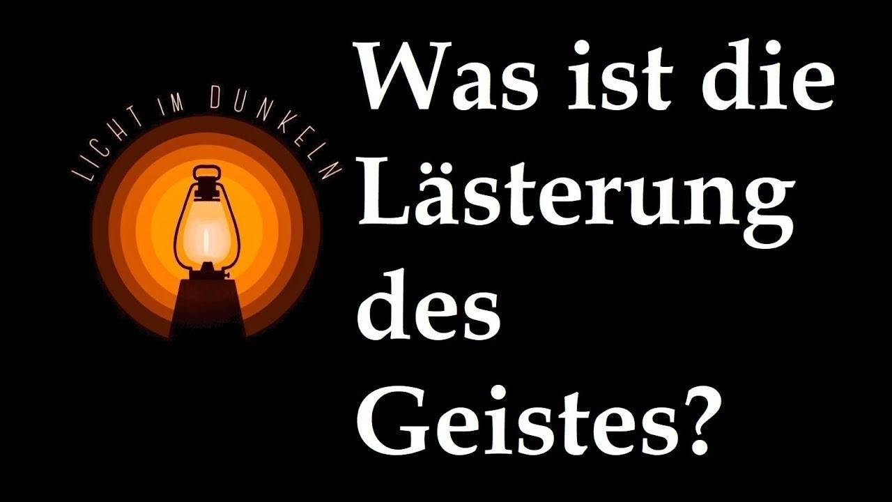 Lästerung Des Heiligen Geistes