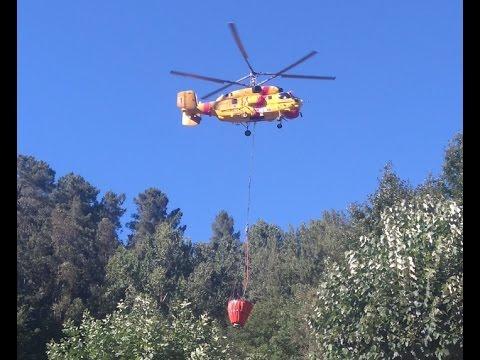 Kamov Ka-32 enche no combate aos incendios em Arouca