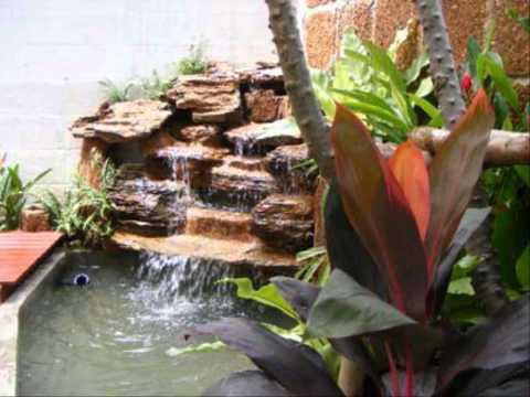 การจัดสวนน้ำตก รั้วบ้านเก๋ๆ
