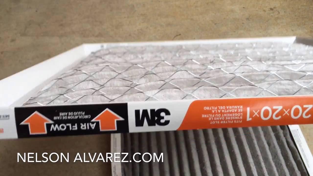 Cambiando el filtro de aire en mi casa 3m filtrete electrostatic air cleaning filter youtube - Poner calefaccion en casa ...