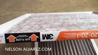 Cambiando el filtro de aire en mi casa (3m Filtrete Electrostatic Air Cleaning Filter)
