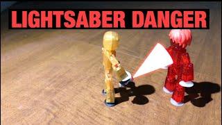 Lightsaber Danger! | #Stikbot