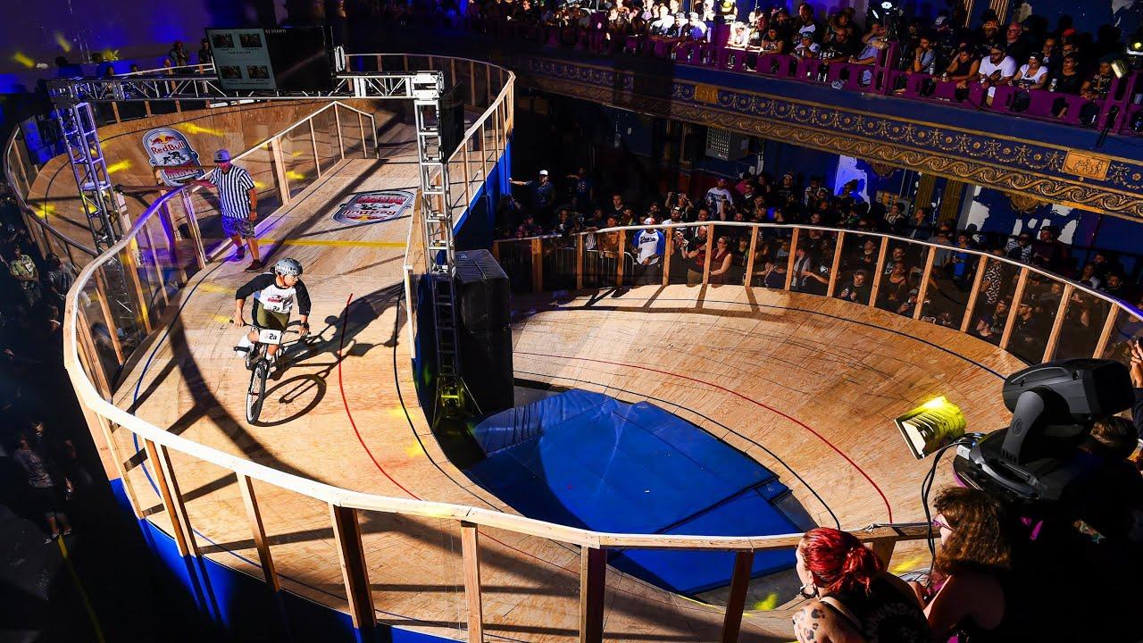 Fixed Gear Bike Race On Rare Figure 8 Track Red Bull