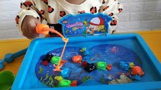 Mainan Anak - Memancing Ikan Sambil Belajar Berhitung, Belajar Warna & Bentuk - Fishing for Kids