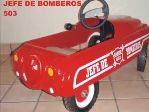 Carro Pedales Apache Amf Bmc Jefe Bombero 503 Wmv Youtube