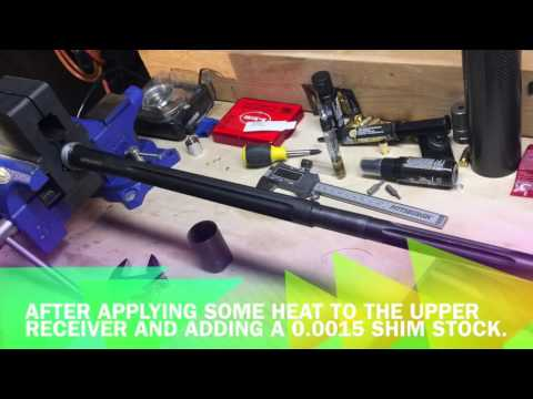 Shimming an AR Barrel Extension
