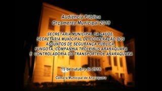 Audiência Pública - Orçamento Municipal 2019 - 15/10/2018