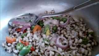 Stir fry black eye peas/beans recipe