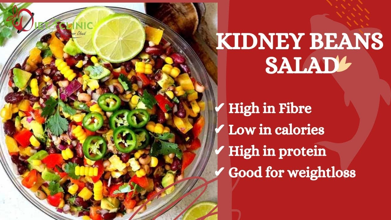 Red Kidney Beans Salad Diet Weight Loss Health Benefits Of Beans How To Prepare Urdu Hindi Youtube