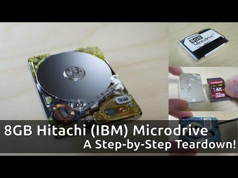 Teardown of a Hitachi (IBM) Microdrive: Step-by-Step Video