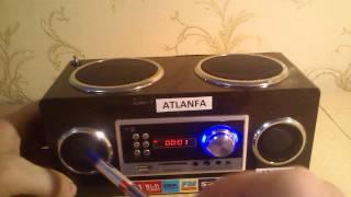Обзор  портативной колонки ATLANFA  АТ-8809