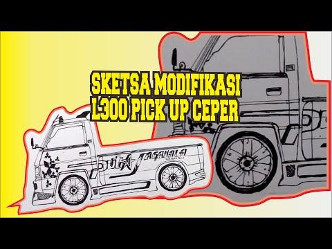 Sketsa Modifikasi L300 Pick Up Ceper Jasa Desain