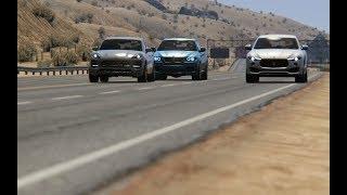 Battle BMW X6M E71 vs Maserati Levant S vs Porsche Macan Turbo