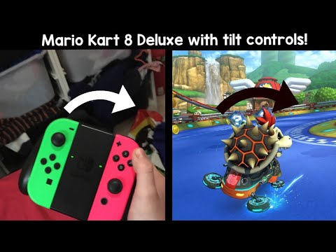 Playing Mario Kart 8 Deluxe With Tilt Controls
