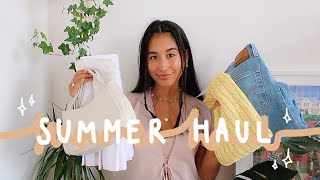 summer try on haul!! | thrift, depop, sustainable companies 🌞✨