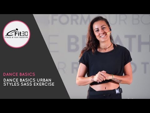 Dance Basics Urban Styles Sass Exercise  Move 123
