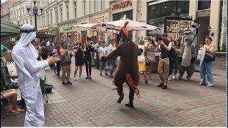 Лошадь Танцует Чеченскую Лезгинку На Арбатской 2019 ALISHKA DEADPOOL (Москва)