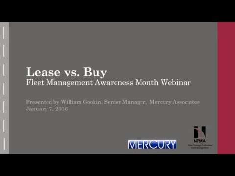Fleet Management Webinar: Lease vs. Buy