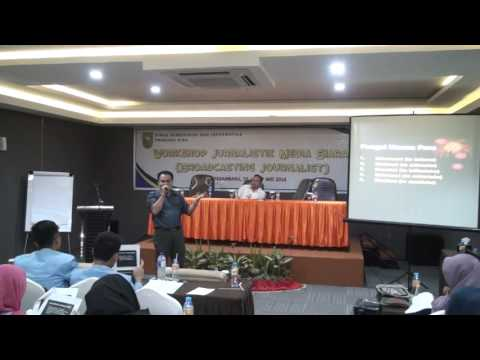 WORKSHOP JURNALISTIK MEDIA SIARAN (BROADCASTING JOURNALIST) TAHUN 2016