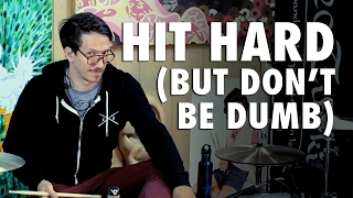 DRUM LESSONS - HITTING HARD - Privates With Brad