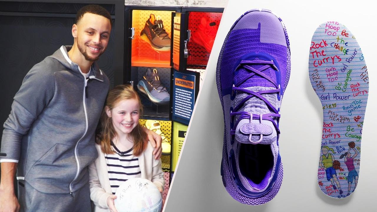 steph curry new girl shoes off 52