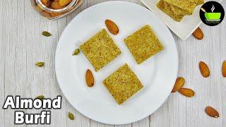 Almond Burfi Using Jaggery | Badam Burfi Recipe | Almond Burfi Recipe | Badam Katli Recipe | Sweets